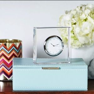 Anna vola lucite clock New York glass sleek